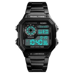 Waterproof Digital Wristwatch Watches For Men Unique, Online Shopping, Gear Best, Casual Watches, Men's Watches, Male Watches, Fashion Watches, Watches Online, Mens Sport Watches