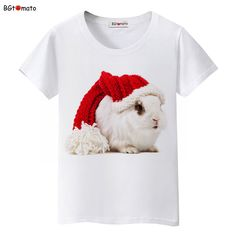 eba93e67489 BGtomato lovely Christmas rabbit t shirt women summer clothes fashion  tshirt top tees t shirt kawaii shirt plus size-in T-Shirts from Women s  Clothing ...