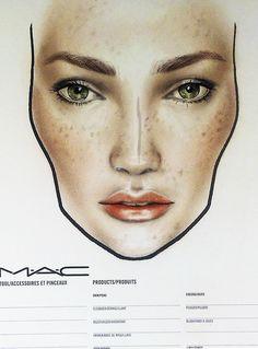 Unprocesses A/W makeup trends, face chart by Amalia Bot @MAC