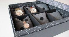 DIY Cartonnage / Fabriquer une boîte à montres ou à bijoux