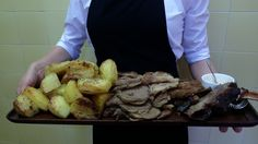 Somerset rib of beef with roasted potatoes and horseradish. One part of the Valencienne Menu sharing platters. Each table has three main courses and the guests help themselves to each of the three different platters.