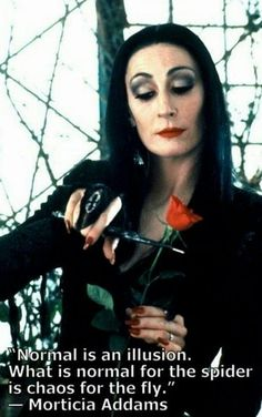 Morticia Adams Gothic Humor   Chuckles...chaos for the fly