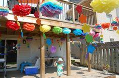 deck party decor | rainbow party decorations deck