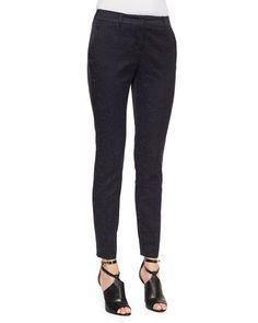 Burberry London Leopard Jacquard Slim Trousers