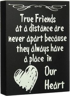 True Friends at a Distance Are Never Apart Home Decor | Sentimental gifts for best friend long distance