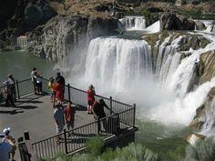 Shoshone Falls, ID. Family road trip July 2012