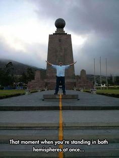 The Center Of The World In Ecuador