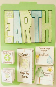 Earth Day FUN!  An activity that I have done with my students for the past three years and we have had sooooo much fun making them.  I have created an Earth Flip Flap Book and Lapbook resource - Simply Skilled in Second #earthdayproject #flipflapbook #la
