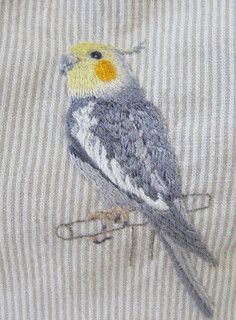 ♒ Enchanting Embroidery ♒  embroidered bird