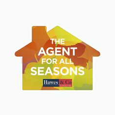 Estate Agents autumn themed leaflets die cut into the shape of a house