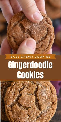 These Gingerdoodle Cookies are a cross between a chewy gingerbread cookie and a classic snickerdoodle to create a new Christmas cookie that will be an instant favorite! #Gingerdoodle #Christmas #ChristmasCookies #ChristmasCookieRecipes #CookieRecipes #Cookies #SnickerdoodleCookies #GingerbreadCookies Ginger Molasses Cookies, Ginger Snap Cookies, Ginger Cookie Recipe, Oatmeal Cookies Recipe, Good Cookie Recipes, Chewy Oatmeal Cookies, Big Cookie Recipe, Ultimate Cookie Recipe, Soft Snickerdoodle Cookies