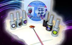 Kit MyDecal : Realizzare i propri design con il sistema Mydecal per velocizzare le decorazioni delle unghie ....anche per ripetere sulla mano dx il design realizzato sulla mano sx. Kit completo di DVD con Videotutorial