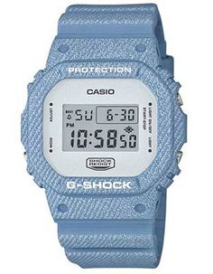 Casio G-Shock - Blue Denim Pattern Case   Strap - Flash Alert - Stopwatch  -200m 608466f858