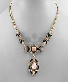 Black/pink statement neck