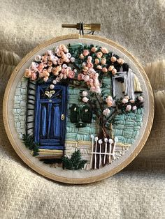 2 Blossom is the only hand embroidery piece of art . - Do it yourself- Nr. 2 Blossom ist das einzige Handstickereikunststück … – Selbermachen No. 2 Blossom is the only hand embroidery piece … - Hand Embroidery Stitches, Silk Ribbon Embroidery, Embroidery Hoop Art, Hand Embroidery Designs, Cross Stitch Embroidery, Embroidery Ideas, Embroidery Needles, Cross Stitch Art, Hand Stitching