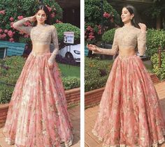 Weddings to attend? 50 celeb-inspired lehengas and saris for you Lehenga Designs, Choli Designs, Indian Wedding Outfits, Indian Outfits, Indian Attire, Indian Wear, Pakistani Dresses, Indian Dresses, Look Short