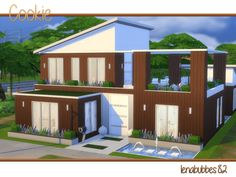 Cookie house by lenabubbles82 at TSR via Sims 4 Updates