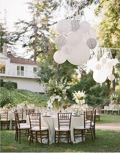 2014 Trends All White Rustic Diy Backyard Wedding Receptions Ideas With Ballons