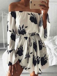 Trendy Tied Floral Casual Mini Dress