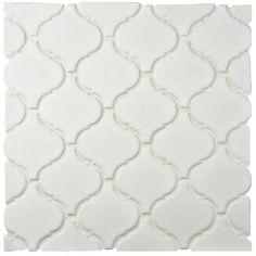 Merola Tile Metro Lantern Matte White 9-3/4 in. x 10-1/4 in. x 6 mm Porcelain Mosaic Floor and Wall Tile-FDXMLMW - The Home Depot
