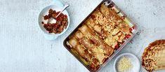 Jauhelihalla täytetyt letut maistuvat niin lapsille kuin aikuisille. Voit valmistaa letut etukäteen ja lämmittää ne uunissa. Tiramisu, Waffles, Baking, Breakfast, Koti, Ethnic Recipes, Morning Coffee, Bakken, Waffle