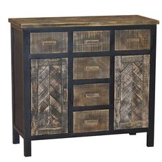 Rustic Brown Ranimar Accent Cabinet View 2 | Furniture Ideas ...