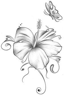Flower tattoo designs, hibiscus tattoo и lillies tattoo. Butterfly Tattoo Designs, Flower Designs, Wildflowers Tattoo, Lillies Tattoo, Doodle Drawing, Watercolor Flower, Flower Tattoo Shoulder, Desenho Tattoo, Tatoo Art