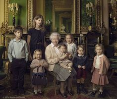 Because it's already the 21st in London: Wishing Queen Elizabeth II a happy 90th birthday! The monarch is seen here with her two youngest grandchildren and five great-grandchildren. #regram @kensingtonroyal : @annieleibovitz_