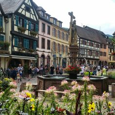 Kaysersberg (9) France, Strasbourg, House Colors, Travel Guide, Fountain, Road Trip, To Go, Street View, Vacation