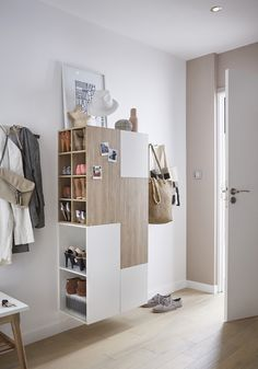 Home Interior Design my scandinavian home: Making An Entrance: Scandinavian Home, Interior Design, House Interior, Interior, Shelves, My Scandinavian Home, Entryway, Diy Storage Projects, Home Decor