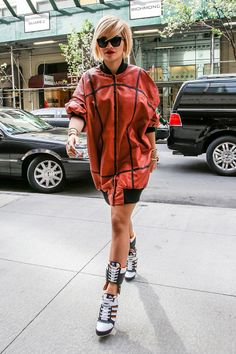 It's no secret that pop star Rita Ora has a discerning eye for fashion, but now Ora is trying her hand at designing a collection for Adidas. See her best athletic-inspired looks on Vogue.com.