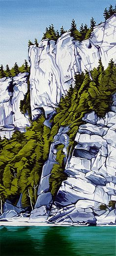 Margarethe Vanderpas - Fine Artist - About - Bruce Peninsula Watercolor Landscape, Abstract Landscape, Landscape Paintings, Canadian Artists, Mountain Landscape, Oeuvre D'art, Art Techniques, Painting Inspiration, Art Drawings
