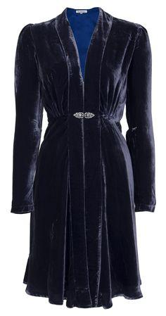 Dulwich Coat Blue Silk Velvet £310.00