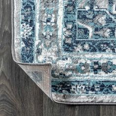 Shop our selection of Morioka Persian Vintage Medallion Rug at our online store. Colorful Rugs, Medallion Rug, Blue Grey Rug, Rugs, Power Loom, Medallion, Vintage Medallion, Floor Coverings, Vintage