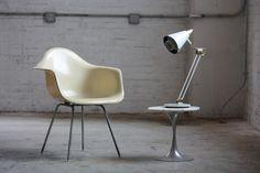 Original Eames® Mid Century Modern Dax Fiberglass Arm Chair for Herman Miller® (U.S.A., 1960s) | by Kennyk@k2modern.com