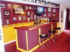 The Redskins Blog | redskins themed home bar