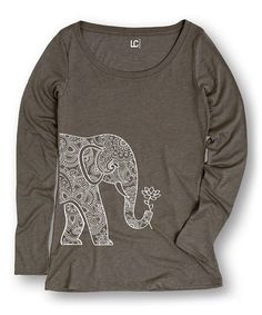 Look what I found on Stone Elephant Lotus Long-Sleeve Tee by Cotton Jungle Latest Colour, Henna Designs, Coloring Books, Long Sleeve Tees, Elephant, Lotus, Stone, My Style, Sweatshirts