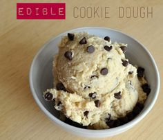 Edible Egg-less Chocolate Chip Cookie Dough Recipe