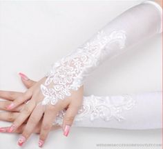 Fashion Lace Embroidery Long Gloves