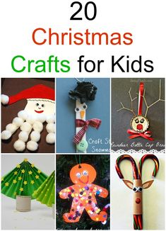 20 Christmas Crafts for Kids Christmas Crafts for Kids I just LOVE this collection. So easy to make and pleasing to the eye! Holiday Crafts For Kids, Preschool Christmas, Christmas Activities, Christmas Crafts For Kids, Xmas Crafts, Craft Stick Crafts, Simple Christmas, Winter Christmas, Holiday Fun