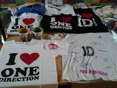 My shirts :) <3 I love them