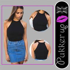 Women Halter Sleeveless Vest Crop Top Camisole Tank top Shirt Blouse