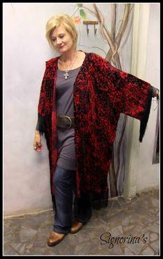 Uniquely by Signorina's Dusters, Gypsy Soul, Tassel, Kimono Top, Velvet, Deep, Lady, Womens Fashion, Tops