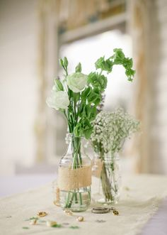 Rustic wedding decor | Photo by Jeremy Harwell | 100 Layer Cake. I like the buttons and things as decoration