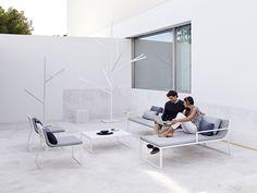 GANDIABLASCO, Blau collection Blau, designer Fran Silvestre. tables, sofas, chairs and armchairs.
