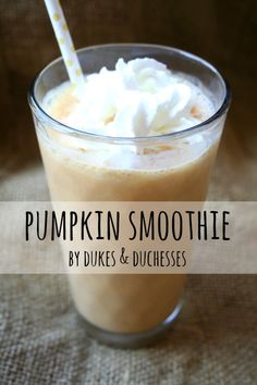 a pumpkin smoothie