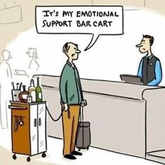 EmporiumSF MEET ME THERE ASAP Please note Emotional support bar carts are also not permitted in the venue. But we do provide emotional support bartenders for your convenience. Funny Cute, Hilarious, Emotional Support Animal, Alcohol Humor, Funny Alcohol, Lol, I Love To Laugh, Twisted Humor, I Laughed