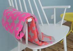 HUSET Hay Plus 9 Blanket neon crosses blanket