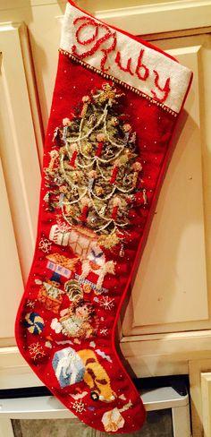 Needlepoint Christmas Stocking | ricamo calze natalizie ...
