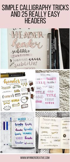 Simple Calligraphy Tricks and 25 Simple headers to get you started! | My Inner Creative #handlettering #lettering #moderncalligraphy #calligraphy #typography #thedailytype #goodtype #brushlettering #typegang #typespire #handmadefont #typematters #type #handlettered #typographyinspired #calligritype #artoftype #brushcalligraphy #handtype #handwriting #letteringco #handwritten #ligaturecollective #thedesigntip #script #strengthinletters #brushpen #50words #brushtype #scriptlettering